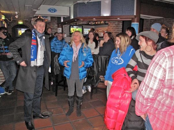 Ole Gunnar Solskjær gjestet Molde FKs fotballpub høsten 2011. Foto: Odd Roar Lange