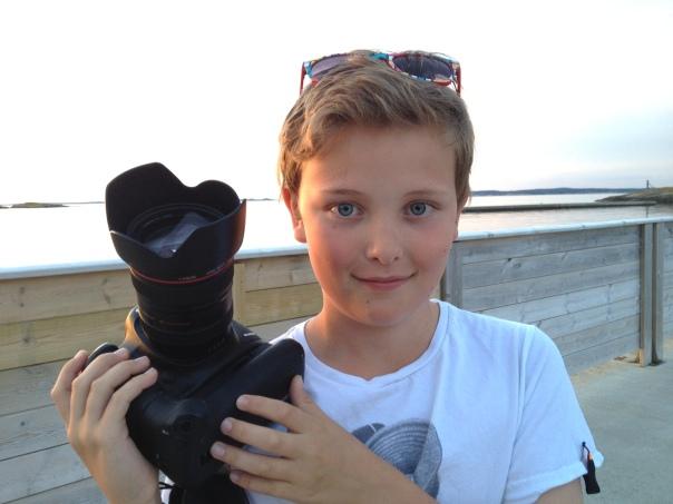 Vi jakter med kamera og åpent sinn, Jakob og jeg :-)