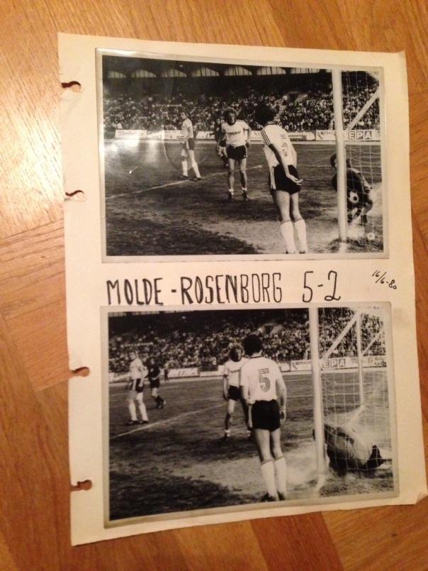 Fra Rosenborg-Molde på Lerkendal i 1980. Molde vant 5-2. Foto: Odd Roar Lange